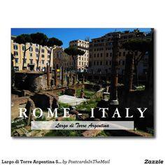 Largo di Torre Argentina Scene, Rome, Italy Postcard
