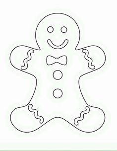 four blank gingerbread men print color fun free printables