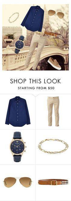 """Untitled #171"" by zzami ❤ liked on Polyvore featuring Polo Ralph Lauren, Chor, Giorgio Armani, Ray-Ban, Burberry, Vince Camuto, men's fashion and menswear"