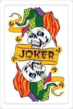 Joker Joker Playing Card, Joker Card, Playing Cards, Clown Tattoo, Skull Tattoos, Joker Clown, Play Your Cards Right, Punch And Judy, Tarot Meanings