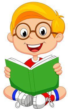 Resultado de imagen para niño leyendo animado