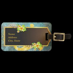 Shop Flower Decor Luggage Tag created by Ronspassionfordesign. Custom Luggage Tags, Luggage Bags, Travel Style, Flower Decorations, Make It Yourself, Flowers, Personalised Luggage Tags, Floral Decorations, Personalized Luggage Tags