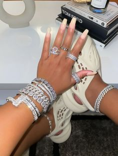 Icy Affordable Bangles Huge Engagement Rings, Boujee Lifestyle, 50th Birthday Party Decorations, Bangles, Bracelets, Necklaces, Diamond Sizes, Trendy Jewelry, The Girl Who