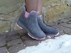 7877c1653 Обувь ручной работы. Заказать Эко ботиночки из шерсти двухцветные Челси.  Eco Shoes by Julia Pizar. Ярмарка Мастеров.