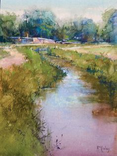 Richard McKinley's landscape painting, Acequia