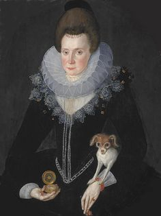 Portrait of Lady Arbella Stuart by Robert Peake the Elder. She's so often forgotten, but was briefly a major claimant to the English throne in the 1590s & 1600s.