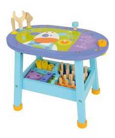 Love the colors!   Purple & Blue Workbench by Boikido on #zulily