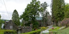 """I found out about St. Conan's Church  on the web.  It is actually one of the newer churches with lots of cool things about it, including rabbit-head downspouts, a replica of Robert the Bruce and beautiful architecture in general!  It's right at the top of Loch Awe.    """"The coming of the Callander and Oban Railway in the late 1870s opened up what had previously been the largely deserted north shore of Loch Awe. The island of Innis Chonain, close to the shore, was brought by Walter Campbell…"""