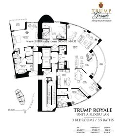 Penthouses in Miami Floor Plans | Floor Plan Trump Palace Floor Plan Trump Royale Trump International