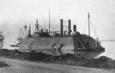 Confederate gunboat.