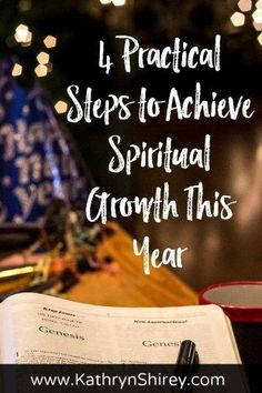 Want to grow your faith this year? Be intentional. Set goals and own your faith with these 4 practical steps to achieve spiritual growth this year. You can grow in faith and connect with God in a fresh way! Spiritual Life, Spiritual Growth, Spiritual Attack, Spiritual Health, Spiritual Practices, Spiritual Awakening, Keep The Faith, Faith In God, Christian Living