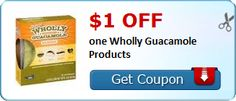 New Coupon!  $1.00 off one Wholly Guacamole Products - http://www.stacyssavings.com/new-coupon-1-00-off-one-wholly-guacamole-products/