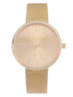 SHARE & Get it FREE | Simple Steel Mesh Band Quartz Watch - GoldenFor Fashion Lovers only:80,000+ Items • New Arrivals Daily Join Zaful: Get YOUR $50 NOW!