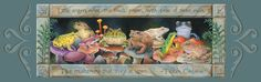 Bookmark  Toads and frogs sitting on exotic by CaryeVDPMahoney, $3.00