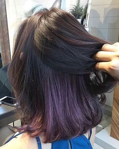 Keep it hidden at school or work and flaunt it when you're ready to party ✨✨ Peekaboo lavender hair color by Number76 Singapore.