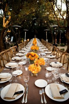 The Welcome dinner- all guests sit together at one table to get to know each other before the next day