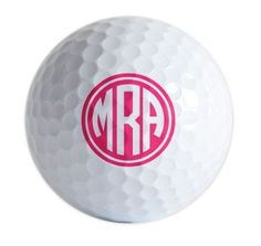 Personalized Golf Balls. $29.95, via Etsy- pink