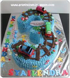 Thomas cake idea for Ayden's 2nd bday!
