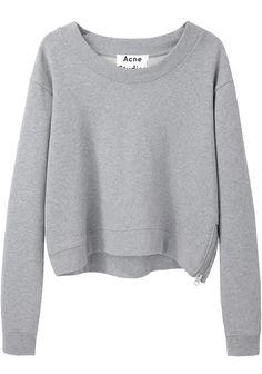 Acne Studios Bird Fleece Cropped Pullover | La Garçonne