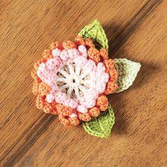 Double-layered corsage crochet pattern