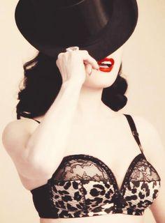 Dita Von Teese knows how to wear a red lipstick!