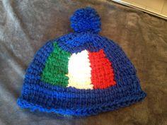 Kappe mit italienischer Flagge