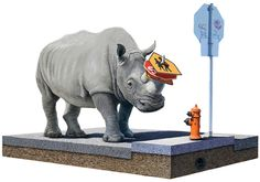 """The Collector - by Josh Keyes  2012. Edition of 3117 10"""" x 8"""" (25 x 20cm) Giclee on white art paper Numbered and stamped"""