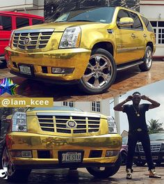 Photos: Singer Kcee acquires customized 2014 Cadil...