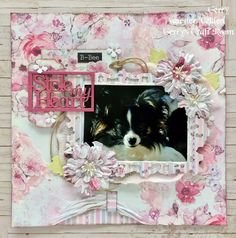 This peek-a-boo technique is our absolute favourite! Head to Gerry's Craft Room to view how she made this mini layout using FabScraps C105 Memory Lane collection.