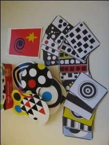 High Contrast Images / Flash Cards for babies, black and white flash cards, visual development and stimulation