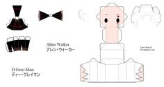 D.Gray-man OC Papercraft - Allen Walker