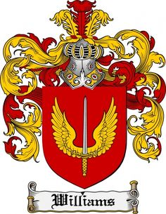 Williams Coat of Arms Williams Family Crest Instant Download - for sale, $7.99 at Scubbly