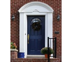 Dark blue doors are believed to create calm and peace for your home...TARDIS blue doors create awesomeness for your home! Especially if your doorbell makes that sound...