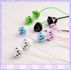 Amazing price!3.5mm Newly cute Cartoon Winnie Earphone Headphone in-ear earphone 10pcs/lot For  FreeShipping $6.12