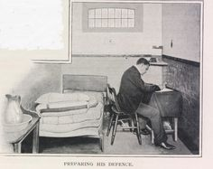 Holloway Prison 1890s: If they were wealthy ... men could even take advantage of the 'superior accommodation' highlighted by Living London (1901): 'A certain number of cells are fitted up, not luxuriously, but with bedstead, and table, and chest of drawers, for which the occupant is charged a shilling or two per week.'