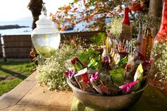 Ideias criativas para casamento na praia: sorvete e água aromatizada - Foto Giovani Garcia