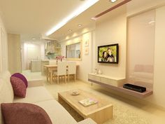 F. Guinto Portfolio: Modern Country Style HDB 3 Room Flat