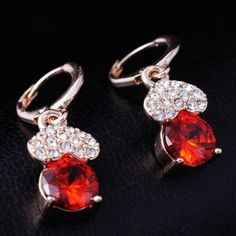 Rose Gold Filled Cz Ladies Earrings