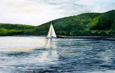 Lake Sunapee | Morning Sail - Fine art by Leigh Schoch