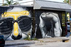 Wynwood Walls Street Art Miami, street art, sunglasses, hand, beautiful, different, cool, photo.