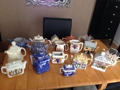 Joblot Of Antique Vintage Porcelain Teapots Ringtons Wade Price Annie Rowe
