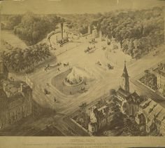 New York City. Plan for Entrance to Central Park - A. D. White Architectural Photographs, Cornell University Library