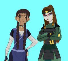 oki and yue by poseidon'sdaughter, sokka and suki's daughters, avatar