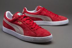 74249c1ffaf4cf Puma Suede Classic Eco Mens Shoes - Team Regal Red-White Me Too Shoes
