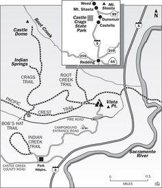 Castle Crags Trail Map