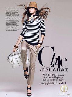 Regina Feoktistova | Harper's Bazaar US March 2010
