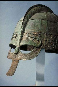 hjälm (Helmet) from Vendel Uppland in Sweden's Historical Museum http://www.historiska.se/data/?bild=19372
