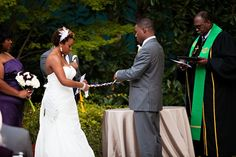 Chic Outdoor Wedding with Purple Accents by Kelly Lane Photography: Kaleah and Courtney