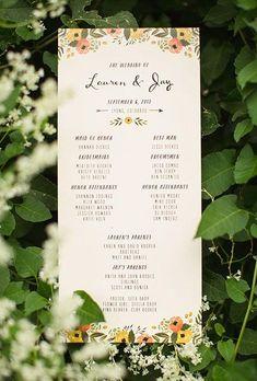 Wedding ceremony programs unique 15 ideas for 2019 Creative Wedding Programs, Wedding Ceremony Programs, Unique Wedding Invitations, Wedding Stationary, Wedding Paper, Wedding Cards, Wedding Day, Spring Wedding, Wedding Bells