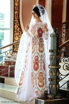 Ikat wedding dress